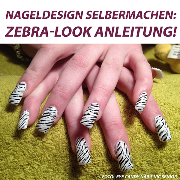 so gelingen die fingern gel im zebradesign nageldesign selbermachen. Black Bedroom Furniture Sets. Home Design Ideas